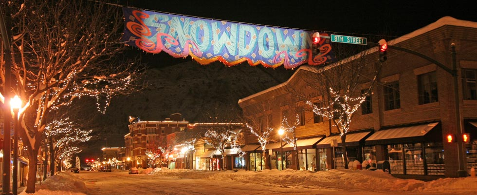 Durango Snowdown at Night