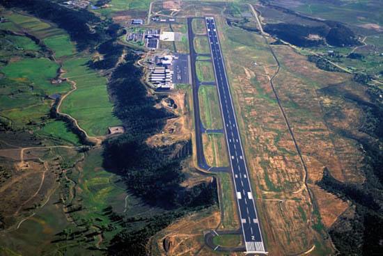 durango colorado airport commercial arial photo